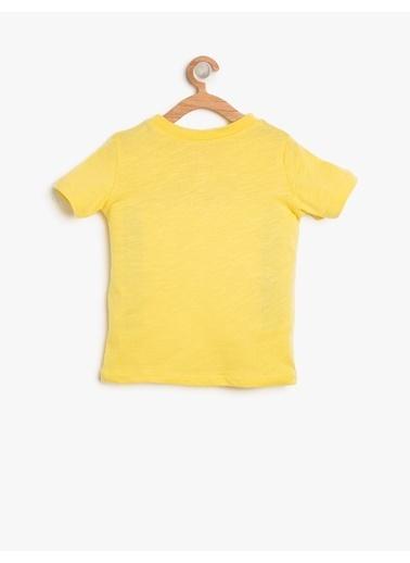 Koton Kids Baskılı T-Shirt Sarı